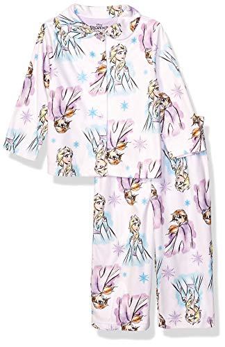 Disney Girls' Toddler Frozen 2 2-Piece Pajama Coat Set, Sweet Sisters, 4T