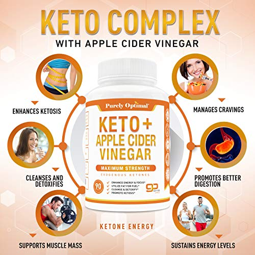 Premium Keto Pills + Apple Cider Vinegar Capsules with Mother - Utilize Fat for Energy with Ketosis, Boost Energy & Focus, Manage Cravings, Metabolism Support - BHB Keto Diet Pills for Women, Men 7