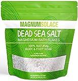 Magnesium Bath Salt Flakes of Pure Dead Sea Salt, Bath Soak & Foot Soak for Detox, Exceptional #1 Therapeutic Source - Stronger Alternative to Epsom Salt, Bulk 10 Pounds