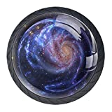 Interstellar Planet 4 PCS Pull Crystal Glass Cabinet Knobs with Stainless Steel Screws Han...