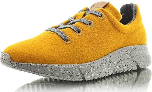 Laerke Merino Schuhe Damen PLK004 Women, ark Yellow/Grey, 38 EU