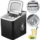 Machabeau Machine à Glaçons Portable 12kg par 24H Mini Commercial Ice Maker avec LCD (noir)