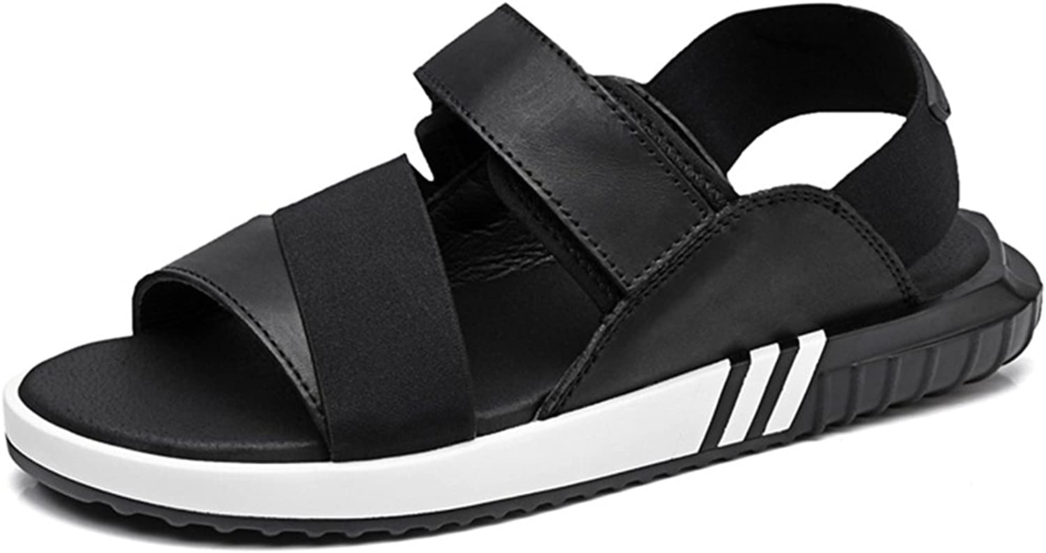 Minotta Women's Summer Slides Leather Outdoor Casual Sandals