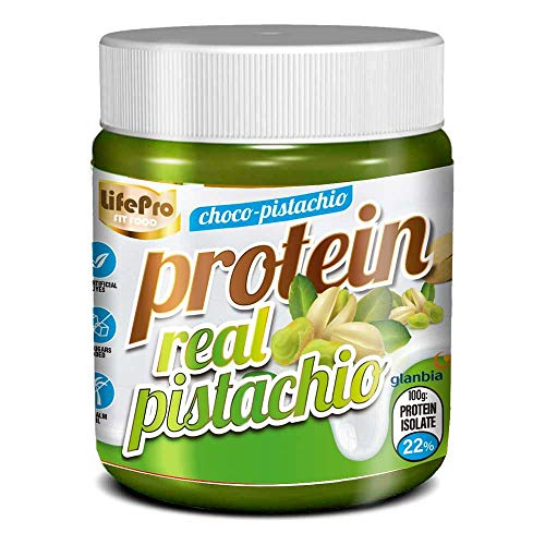 Life Pro Fit Food Protein Cream Real Pistacho | 20% Proteina | Crema Proteica Sabor Pistacho | Facil de untar | Sin azucares añadidos | Sin conservantes artificiales