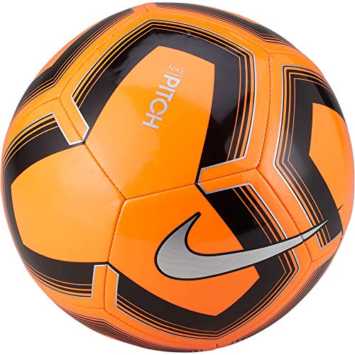Nike Unisex's NK PTCH TRAIN-SP19 Soccer Ball, Total Orange/Black/Silver, 4