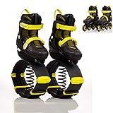WWSZ Elastiche Scarpe da Salto,Kangaroo Jump Shoes,Pattini in Linea 2 in 1 e Scarpe da Salto Canguro,Scarpe da Salto Scarpe da Rimbalzo Stivali da Salto Antigravità Scarpe