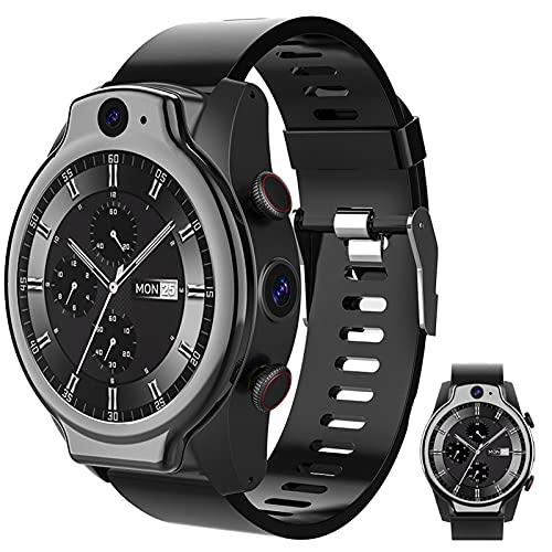 APCHY Smartwatch Reloj Inteligente para Hombres,Pantalla Redonda De 1.6 Pulgadas,Rastreador De Gimnasia GPS con 4GB RAM + 64GB ROM Cámara Dual HD, Modos De Deporte Múltiple Reloj Exterior,Negro