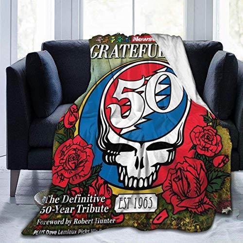 Hdadwy Manta de Microfibra ultrasuave Grate-Ful Music Dead Throw Blanket Mantas Ligeras para sofá 60 'X50'