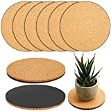 6 Pieces Cork Plant Mat Plastic Plant Mat Round Plate Pad for Garden, Courtyard, Pot Mat, Indoor Outdoor and DIY Craft Project (4 Inches)