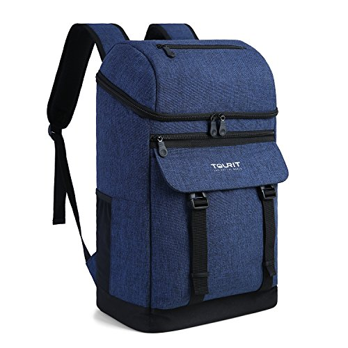 TOURIT Isolierte Kühltasche Cooler Rucksack mit Flaschenöffner Großer Kapazität für Männer Frauen Picknicks Parks Tag Reisen und Familie Reisen