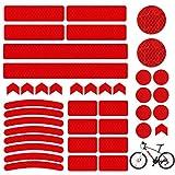 Sunshine smile Reflektoren Aufkleber Sticker,Reflektor Aufkleber Set,reflexfolie selbstklebend,reflexfolie Fahrrad,Reflektoren Aufkleber für Kinderwagen Fahrrad und helme (Weiß)