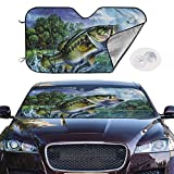 hengshiqi Windshield Sunshades Animal Sole Fish Salmon Front Car Shield Window Shade UV Ray Reflector Auto Visor Cover Protector Foldable Truck Sun Glare
