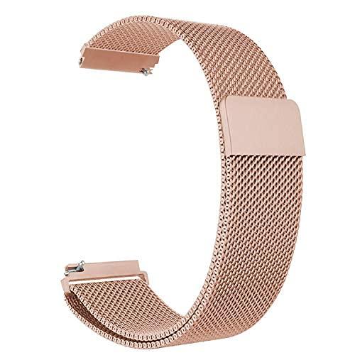 Pulseira de metal para relógio de liberação rápida de 20 mm compatível com Samsung Galaxy Watch 3 41 mm, Galaxy Active 2 44 mm, Gear S2 Classic, Amazfit GTS Bip U Pro pulseira de substituição para relógio inteligente