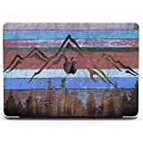 Wonder Wild Case Compatible for MacBook Air 13 inch Pro 15 2019 2018 Retina 12 11 Apple Hard Mac Protective Cover 2017 16 2020 Plastic Laptop Print Mountain Forest Wooden Planks Art Grunge Reclaimed