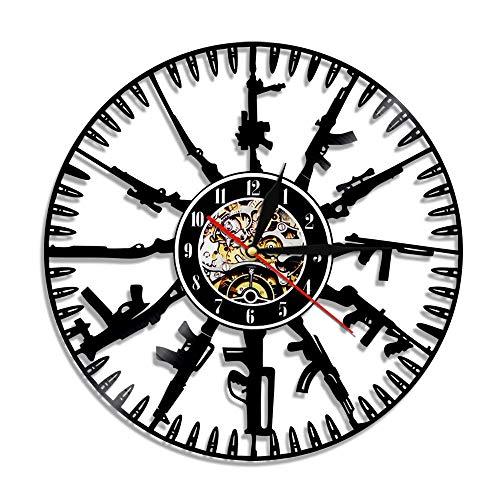 Reloj de pared de vinilo de 12 pulgadas, diseño de soldado, reloj de pared de vinilo, estilo Art Deco, 01