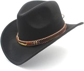 Ruiyue Western Cowboy Hat,Fedora Sombrero Hombre Caps Fashion Women Men Hat With Roll Up Brim For Unisex