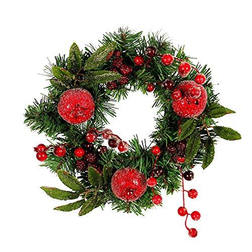 Ghirlanda Natalizia con luci, Mambian Decorativa Chic Bello Corona di Natale Decorazioni di Natale Porta Indoor Festa Natalizia Regalo,Ghirlanda 270 cm luci 500 cm