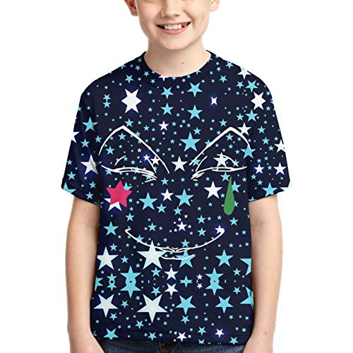 John J Littlejohn Hisoka-Face Hunter X Hunter Anime Boy's Cotton T-Shirts 3D-bedrucktes T-Shirt für Kleinkinder Kid's Short-Sleeve Casual Tee