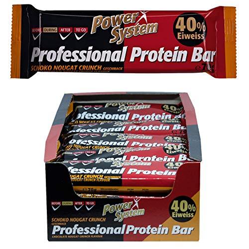 mächtig der welt Professionelles Proteinriegel-Power-System – Schokoladen-Nougat – 16 x 70 g