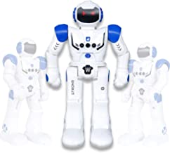 Vindany Inteligente RC Robot Juguete Control Remoto Gesto Robot Kit con programación Intelectual, Cantando y Bailando Robots Recargables multifuncionales para niños (Azul)