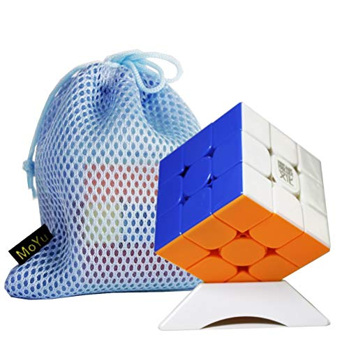 Gobus MoYu WeiLong WRM WR M 3x3 cubo Magico Speed Cube Puzzle Cube + One Cube Stand e Una Borsa (Stickerless)