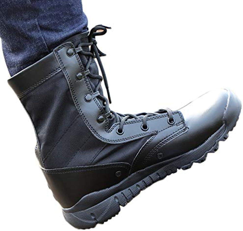 Herren Desert Armed Combat Stiefel Stiefel Patrol Army Military Leder Stiefel Lace-Up Praktische Schuhe Dschungel Taktische Schuhe,schwarzleather,39  authentische Qualität