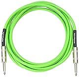 DiMarzio EP1710SSGN - Cable jack para instrumentos, color verde neón