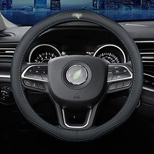 Coche Cubiertas Volante,para Jeep Wrangler Renegade Patriot Compass Grand Cherokee,Funda de Cuero de Microfibra para Volante de Coche DIY, Transpirable, Antideslizante