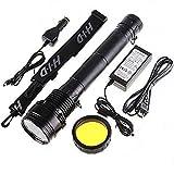 Sunworld HID Xenon 8700mAh Torch Flashlight SOS for Outdoor 85W 8500 Lumens 3 Mode - Black