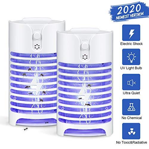 Litake UV Insektenvernichter Elektrisch, 2020 2 stück Moskito Killer Lampe 0,8 W Mückenlampe Insektenlampe Für Schlafzimmer Gärten Haus Küche Büro