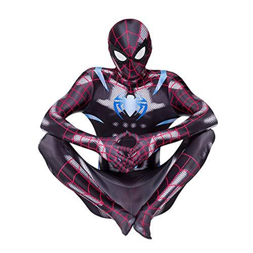 Mujer Spiderman Cosplay Body PS4 Superhroe Mono Elstico Estilo 3D Spandex Lycra Zentai Disfraz de Partido de Halloween Partido de Halloween,Black-Adults~L(175~185cm)