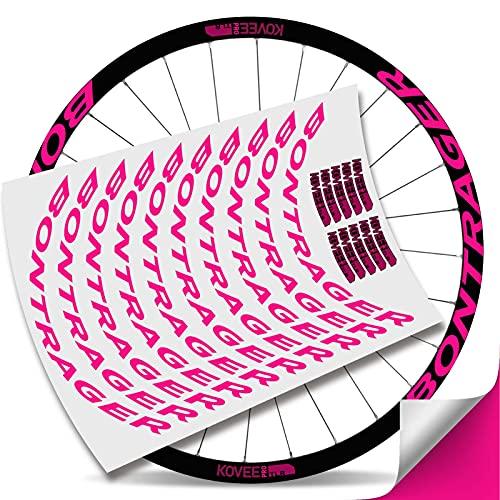 Kit Pegatinas Bicicleta Stickers LLANTA BONTRAGUER KOVEE Pro TLR MTB BTT B (Rosa Fluor)