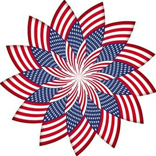 DIY 5D Diamond Painting Kits for Adults Full Round Drill Diamond Painting for Home Wall Decor Gift American Flag Flower 11.8x11.8in 1 Pack by YIGANERJING