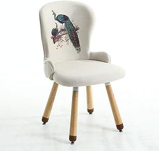 Sillas de comedor salón, sillas for la sala de estar, el respaldo Impreso Silla de madera maciza, silla con los pies antideslizantes, 150 kg de capacidad de carga dentro, Sillas de cocina, 3 estilos s