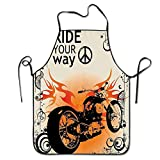 DSFDSFSDFRTRGF CandssLuggage Manly Motorcycle Image with Ride Your Way Text...