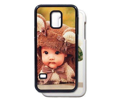PixiPrints Handyhülle aus Kunststoff selbst gestalten * eigenes Foto * Schutz mit eigenem Bild, Farbe:Weiß, Kompatibel mit Samsung Galaxy S5 Mini