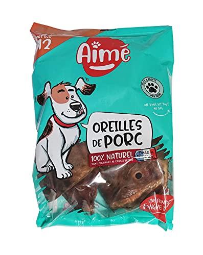 AIME Oreille de Porc pour Chien, X12, Sans conservateur...
