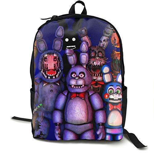 Freddie'S Five Nights At Freddy'S (17) Mochila para portátil antirrobo, mochila de viaje de negocios, resistente al agua, para colegio, para mujeres y hombres
