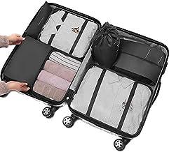 Small Conjunto de 7 peças/conjunto de colcha, bolsa de armazenamento, organizador de sapatos, guarda-roupa, mala, bolsa de...