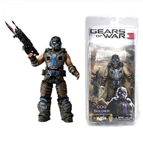 GEARS OF WAR 3 'COG Soldier' Includes Retro Lancer - 7.00'' Figurine 2012 by Gears of War