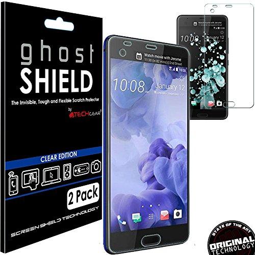 TECHGEAR [2 Pack] Protection Écran pour HTC U Ultra [ghostSHIELD] Film de Protection Souple en TPU avec Protection Totale de l'Écran Compatible pour HTC U Ultra [Protection 3D Bords Incurvés]