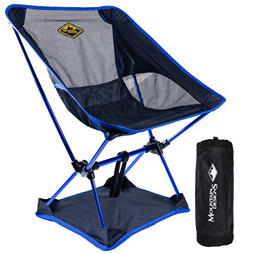 Camp Chair by Mountain Designs   Ultralight Camping Chair for Travellers   Durable Portable Chair Supports 270lbs   Quick Setup Folding Chairs for Adults is Ideal for Camping Accessories.