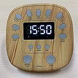 CYLZRCl Reloj Despertador Instrumento De Sueño De Ruido Blanco Máquina De Ruido Blanco Estrés Musical Ayuda For Dormir Comodidad del Bebé Adecuado For Bebés, Niños, Adultos. (Color : Natural)