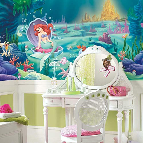 RoomMates JL1224M the Little Mermaid Prepasted Chair Rail Wall Mural