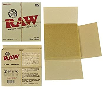 RAW Unrefined Parchment Paper Squares 5  x 5  100 Sheet Pack
