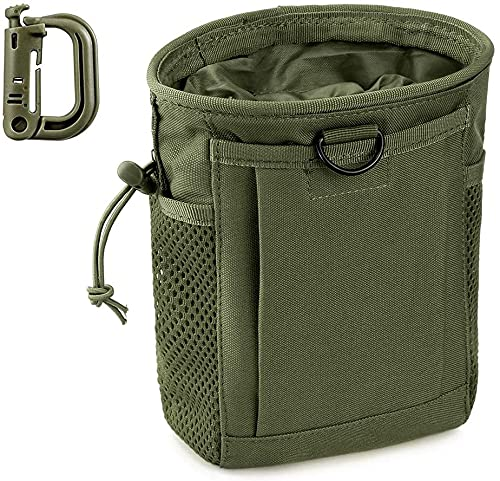 Tactical Molle Drawstring Magazine Ammunition Bag, Adjustable Military Tactical Bag, Used for Air Gun Paintball Equipment with D-Ring Lock.