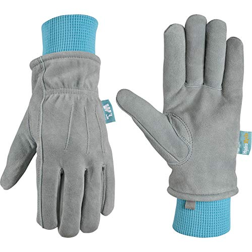 Women's Winter HydraHyde Water-Resistant Warm Leather Gloves, Small (Wells Lamont 1083)