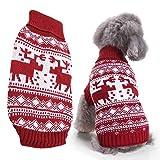 Alinory Suéter para Perros, suéter de Moda para Perros de Navidad Ropa de Abrigo Cachorros Gatos Tipo de Jersey Abrigo de Invierno Rojo(XXL-Rojo)