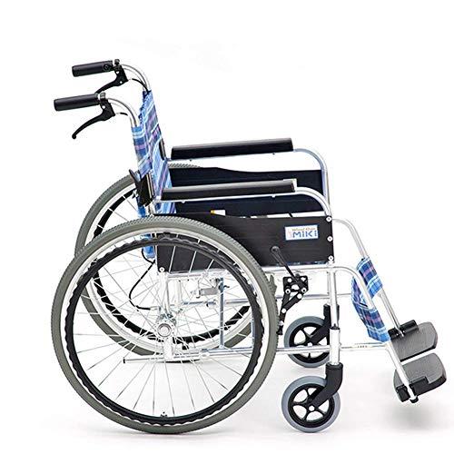 Lichtgewicht opvouwbare kinderstoel Ouderen gehandicapten Rolstoel Rijden Medisch, Ouderen gehandicapten Rolstoel Vouwen Licht Kleine Ultra Licht Oude Reizen Kleine Handrail Trolley, Y-L