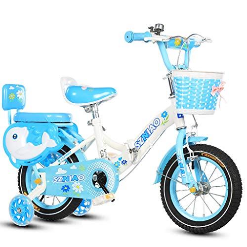 GAIQIN Durable Bicicleta para niños 2-4-5-7-8-11 años Frenos de Mano